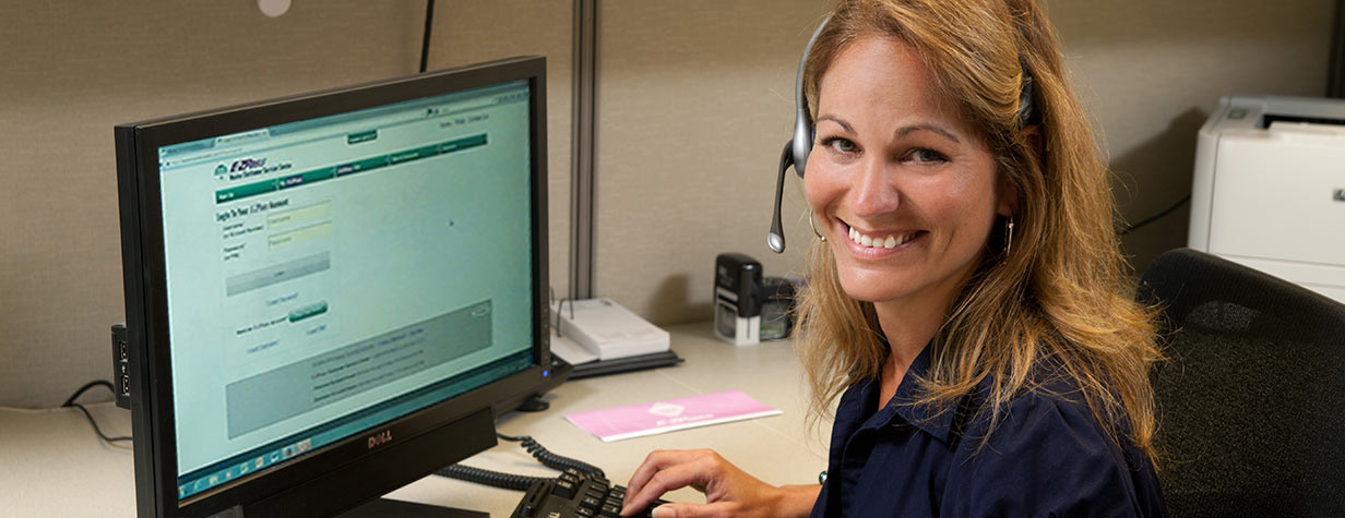 Our customer service reps make account questions E-Z